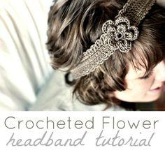 Crochet Flower Headband Tutorial