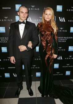 Pin for Later: There Was Definitely Some Savage Beauty on Show at the V&A Last Night Rupert Friend and Aimee Mullins