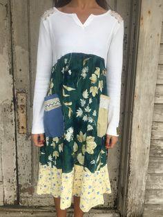 Alice dress-small medium-artsy-Eco Clothing-Upcycled