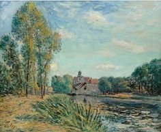 Alfred Sisley - Fin d'après-midi à Moret, c. 1891. Oil on canvas, 23 5/8 x 28 3/4 in. (60 x 73 cm).