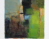 Hiroshi Matsumoto Dec. 30, 2012 - Original Abstract Oil Painting - 9x9 painting (9 x 9 cm - app. 4 x 4 inch) with 8 x 10 inch mat