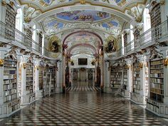 the monastery library in Admont