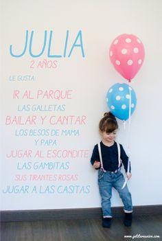 Invitaciones 2º cumpleaños Julia