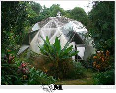 Prefab geodesic dome.