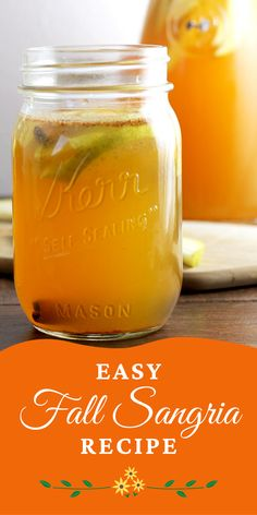 Looking for an easy fall cocktail? This fall sangria is DELISH! Fall Sangria, Fall Cocktails, Sangria Recipes, Drink Recipes, Cocktail Parties, Yummy Drinks, Delish, Easy Meals, Alcohol