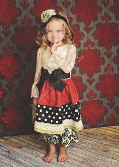 Persnickety Clothing Holly Berry Dress | Persnickety Holiday Collection | Girls Boutique Clothing