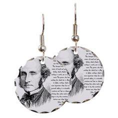 John Stuart Mill Earring Circle Charm at Cafe Press.