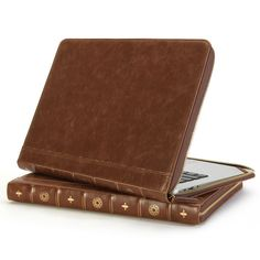 GMYLE® Book Case Vintage for 13 MacBook Air & Pro - Root Beer Brown (Book Book Case)