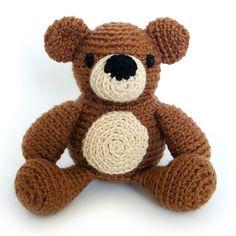Make Samuel the Teddy Bear by Alyssa Voznak with Vanna's Choice! Get the crochet pattern on Ravelry.
