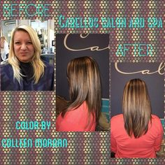 We LOVE this transformation! Have you ever gone dark to light or vice versa? It's so much fun to make a big change! Color by @colleenasunshine #cabellossalon #cabellostally #tally #tallahassee #salon #spa #hair #before #after #transformation #blonde #brunette #styleyourstory #redken @redken5thave @redkenofficial @behindthechair_com @modernsalon