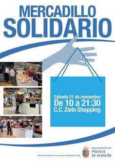"""El Ayto de Pozuelo celebra este sábado, 21 de noviembre una nueva edición del """"Mercadillo Solidario"""", te esperamos de 10:00h a 21:30h en Zielo Shopping de Pozuelo. #Zielo #MercadilloSolidario #Pozuelo"""