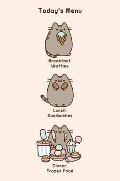 Pusheen: Today's Menu
