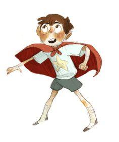 Maddie Sharafian # child boy cape pose