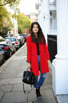 #EveryonesWearing The Red Coat #StreetStyle via CANNED FASHION