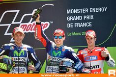 1st Lorenzo 2nd Rossi 3th Dovizioso  FrenchGP Le Mans