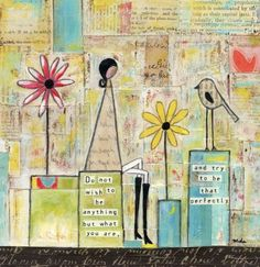 mixed media work