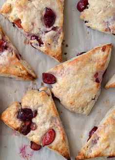 Ricotta and Fresh Cherry Scones