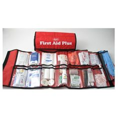 First Aid Plus Trauma Kit in Medical Sleeve from Sunset Survival and First Aid, Emergency Kits, First Aid Supplies, Classroom Safety, Disaster Preparedness Survival Supplies, Emergency Supplies, Camping Supplies, Survival Prepping, Survival Equipment, Survival Life, Diy First Aid Kit, First Aid Tips, Camping First Aid Kit