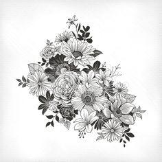 Vintage Flowers royalty-free stock vector art