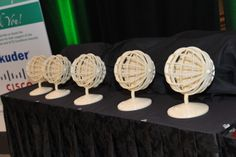 3D awards, printed and donated by Stratasys, designed by Douglas Koch.