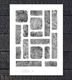 Wood Grain Rectangles Print