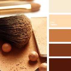 All shades of brown, ranging from dark chocolate to vanilla cream look respectable, calm, solid both individually and in combination. Universal palette loo.