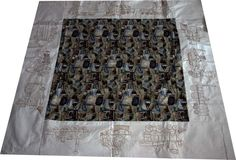 Machine Embroidery Idea, Locomotion quilt.  A beautiful machine embroidered quilt, featuring designs from the locomotion collection, perfect for the men in your life.