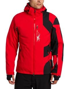 Spyder Men's Macro Jacket, Red/Black, Large by Spyder. $375.00. This jacket is unabashedly Spyder thanks to its new logo approach.