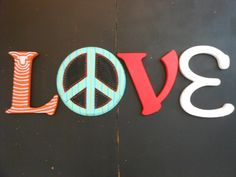Jez4U Custom Whimsy Hand painted Letters Special ORDER by Jez4U, $100.00