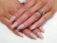 Beautiful nude and glitter by Celinas_Ryden from Nail Art Gallery