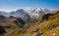 Grand Combin massif and Lac de Louvie on a morning hike - Valais Switzerland [OC][4000x2500]