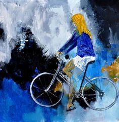 "Saatchi Online Artist: Pol Ledent; Oil, 2012, Painting ""Bicycle 77"""