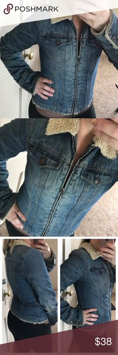 "Gorgeous Abercrombie and fitch lined Jean jacket Like new 18"" pit to pit this jacket is amazing ! Abercrombie & Fitch Jackets & Coats Jean Jackets"