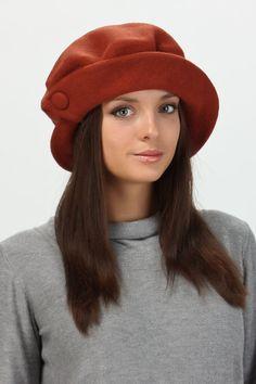 Оранжевая женская шляпа классическая Tonak