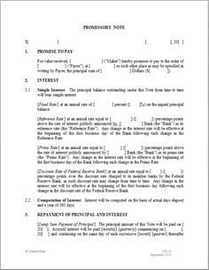 Free Download Promissory Note 1104 Best Template Images On Pinterest