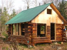 Blogger Bethann Weick writes about the challenges of building your own cabin. This week putting in windows was the task at hand, and they accomplished it just in the nick of time as a nor'easter barreled down on the construction project.