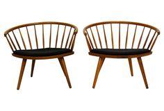 Arka Chairs by Yngve Ekström, Pair