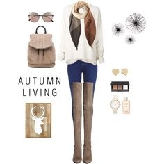 Autumn Life by savanah-herbert on Polyvore featuring polyvore, fashion, style, URBAN ZEN, River Island, Stuart Weitzman, rag & bone, Kate Spade, Paul Smith, Linda Farrow and H&M