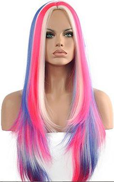 Diy-Wig New Fashion Multi-Color White Pink Blue More Than... https://www.amazon.com/dp/B01BEWPXAE/ref=cm_sw_r_pi_dp_x_WLD4xbD1VQYC3