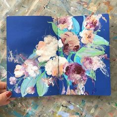today's sketchbook . . . #painting #sketchbook #abstractflowers #contemporaryart #inspiredbynature #iloveflowers #floral #expressionism #dscolor #abmlifeiscolorful #carveouttimeforart #timeforcreativesouls #pursuepretty #dsblues #art #flaming_abstracts #sonalmix #colourpop #markmakingsonaln