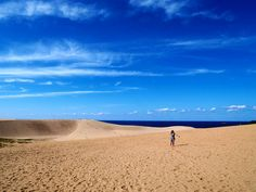 When you need a reminder of how inconsequential we really are spend some time in nature. Those dots on the sand dune? Fellow travellers. The universe is a grand place.  #thoughtsfromplaces #sand #desert #blueskies #tottori #japan #seaside #travelgram #travelphotography #igtravel #nofiltertravel #inspired #explore #wander #nature