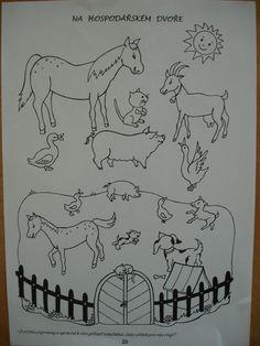 Farm Animals Preschool, Preschool Activities, Body Parts Preschool, Animal Worksheets, Birthday Charts, Paper Flower Art, Exploration, Eye Painting, Animal Crafts