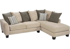 Shop for a Meridian Springs Beige 2 Pc Sectional at Rooms To Go. Find Sectionals that will look great in your home and complement the rest of your furniture.