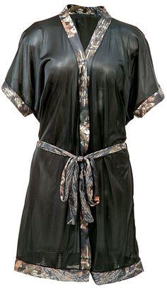 mossy oak camo stuff for women | Women's Short Robe With Mossy Oak Camo Accents - HuntSmart
