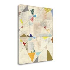 "Tangletown Fine Art 'Geometric Background II V.2' Graphic Art Print on Canvas Size: 25"" H x 21"" W"