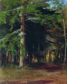"Ivan Shishkin - Study for the painting ""Chopping wood"", 1867"