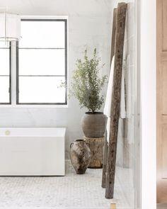 Interior\Lifestyle Photography (@public311design) • Instagram photos and videos Diy Bathroom Decor, White Bathroom, Bathroom Interior Design, Master Bathroom, Interior Decorating, Earthy Bathroom, Barn Bathroom, Natural Bathroom, Bathroom Ideas