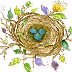 Nest from Mirth by Deborah Mores Art