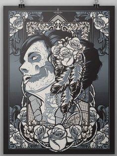 Muerte Girl Illustration on Behance