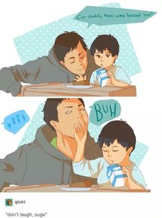 I'm Daichi when I want to eat some baby sister's food and she acts exactly like Kageyama